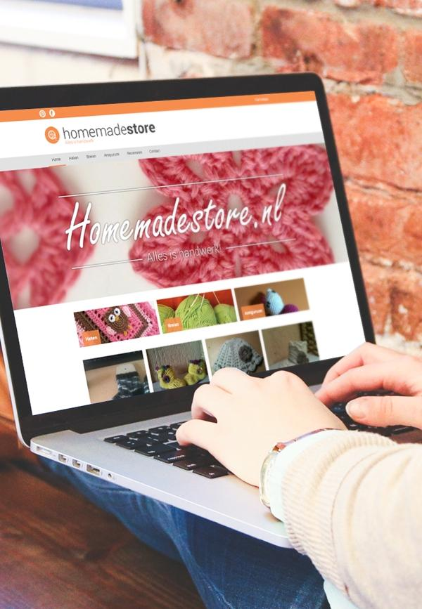 Homemadestore Website design
