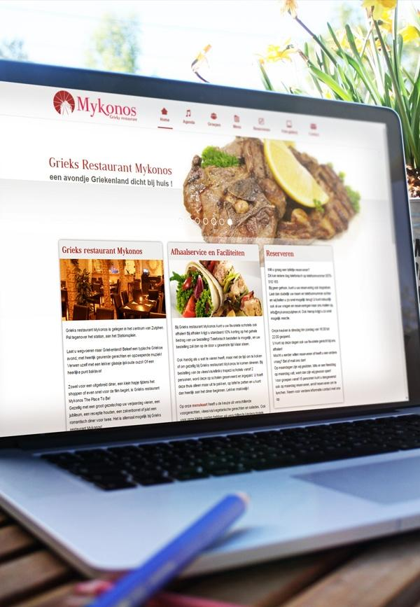 Grieks Restaurant Mykonos Website design